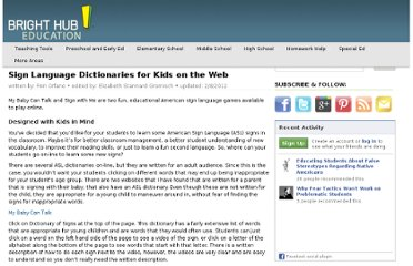 http://www.brighthubeducation.com/teaching-elementary-school/3230-online-sign-language-dictionaries-for-young-students/