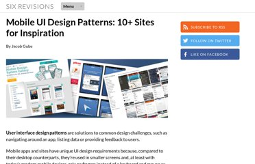 http://sixrevisions.com/user-interface/mobile-ui-design-patterns-inspiration/