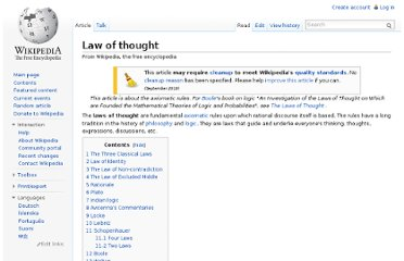 http://en.wikipedia.org/wiki/Law_of_thought#Aristotle