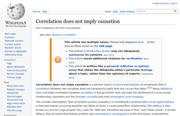 http://en.wikipedia.org/wiki/Correlation_does_not_imply_causation