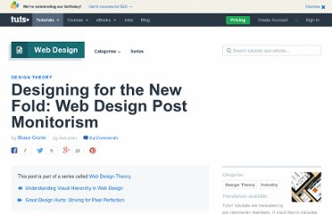 http://webdesign.tutsplus.com/articles/design-theory/designing-for-the-new-fold-web-design-post-monitorism/
