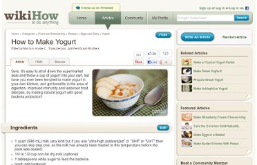 http://www.wikihow.com/Make-Yogurt