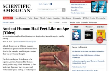 http://www.scientificamerican.com/article.cfm?id=ancient-human-had-feet-like-an-ape