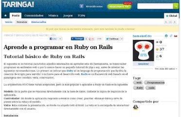 http://www.taringa.net/posts/ebooks-tutoriales/3719571/Ruby-on-Rails-videotutorial-VTC.html