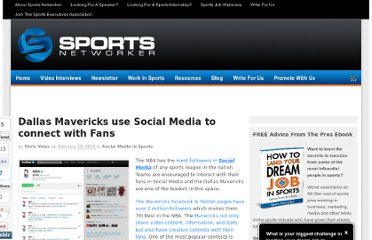 http://www.sportsnetworker.com/2012/02/20/dallas-mavericks-use-social-media-to-connect-with-fans/
