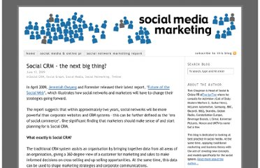 http://www.socialmediamarketinguk.com/social-crm-the-next-big-thing