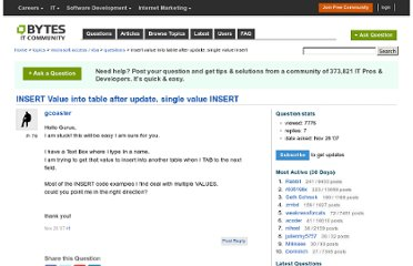 http://bytes.com/topic/access/answers/742184-insert-value-into-table-after-update-single-value-insert