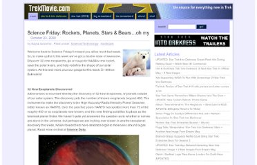 http://trekmovie.com/2009/10/23/science-friday-rockets-planets-stars-bears-oh-my/
