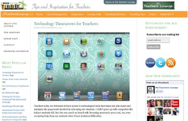 http://www.the-teachers-lounge.com/blog/2012/03/technology-timesavers-for-teacher/