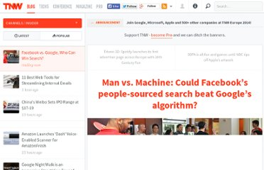 http://thenextweb.com/insider/2012/03/30/man-vs-machine-could-facebooks-people-sourced-search-beat-googles-algorithm/
