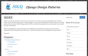 http://agiliq.com/books/djangodesignpatterns/index.html
