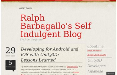http://ralphbarbagallo.com/2012/03/29/developing-for-android-and-ios-with-unity3d-lessons-learned/