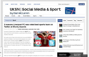 http://www.theuksportsnetwork.com/liverpool-fc-voted-best-sports-team-on-twitter-at-shorty-awards