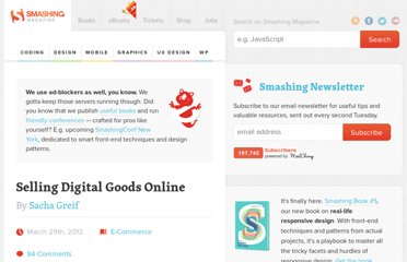http://www.smashingmagazine.com/2012/03/29/selling-digital-goods-online-e-commerce-services-compared/