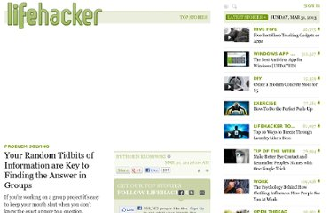 http://lifehacker.com/5897728/your-random-tidbits-of-information-are-key-to-finding-the-answer-in-groups