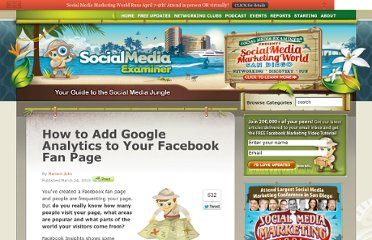 http://www.socialmediaexaminer.com/how-to-add-google-analytics-to-your-facebook-fan-page/