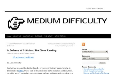 http://www.mediumdifficulty.com/2012/03/29/in-defence-of-the-close-reading/
