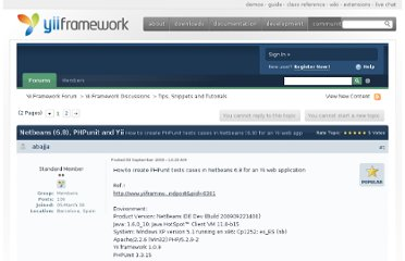 http://www.yiiframework.com/forum/index.php/topic/4717-netbeans-68-phpunit-and-yii/