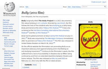 http://en.wikipedia.org/wiki/Bully_(2011_film)