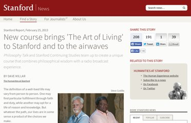 http://humanexperience.stanford.edu/artofliving#videos