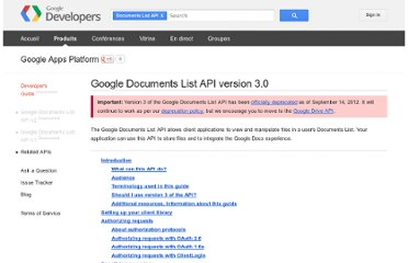 https://developers.google.com/google-apps/documents-list/?hl=fr-FR