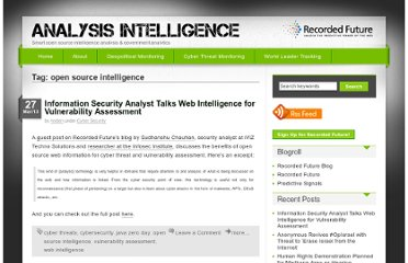 http://analysisintelligence.com/tag/open-source-intelligence/