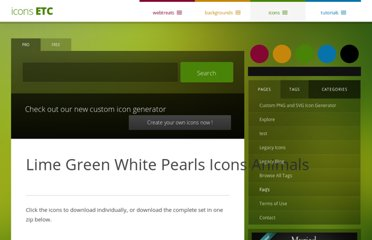 http://icons.mysitemyway.com/lime-green-white-pearls-icons-animals/
