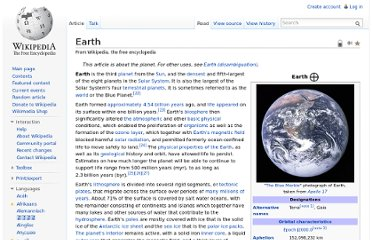 http://en.wikipedia.org/wiki/Earth#Evolution_of_life