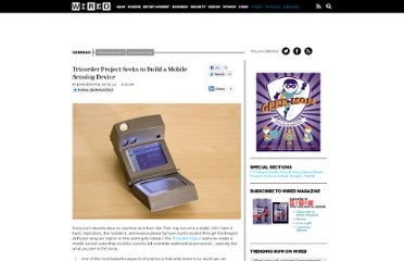 http://www.wired.com/geekdad/2012/03/tricorder-project/