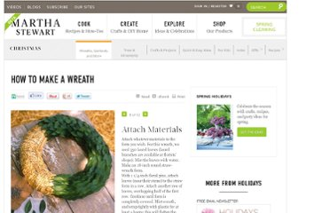 http://www.marthastewart.com/276349/how-to-make-a-wreath#/169850