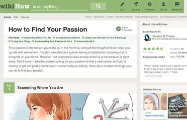 http://www.wikihow.com/Find-Your-Passion