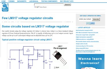 http://www.circuitstoday.com/few-lm317-voltage-regulator-circuits