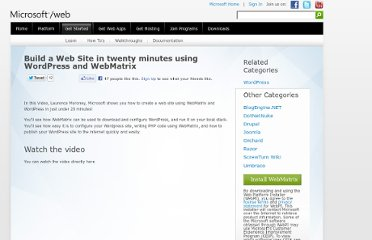 http://www.microsoft.com/web/post/build-a-web-site-in-twenty-minutes-using-wordpress-and-webmatrix
