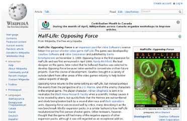 http://en.wikipedia.org/wiki/Half-Life:_Opposing_Force