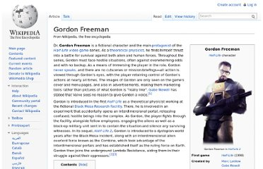 http://en.wikipedia.org/wiki/Gordon_Freeman