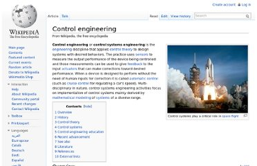 http://en.wikipedia.org/wiki/Control_engineering#Control_theory