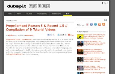 http://blog.dubspot.com/propellerhead-record-reason-micro-tutorial-video-compilation/