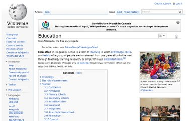 http://en.wikipedia.org/wiki/Education