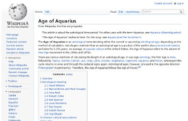 http://en.wikipedia.org/wiki/Age_of_Aquarius