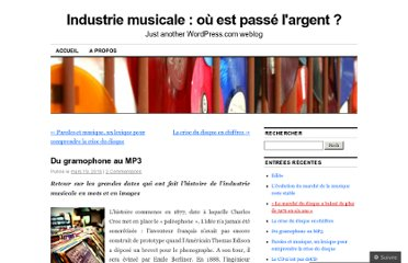 http://largentdelamusique.wordpress.com/2010/03/19/du-gramophone-au-mp3/