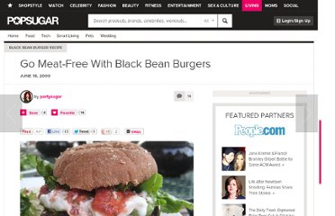 http://www.yumsugar.com/Black-Bean-Burger-Recipe-3320549