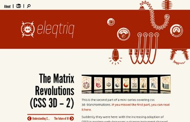 http://www.eleqtriq.com/2010/05/css-3d-matrix-transformations/