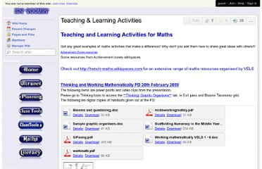 http://icttoolkit.wikispaces.com/Teaching+%26+Learning+Activities