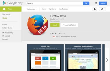 https://play.google.com/store/apps/details?id=org.mozilla.firefox_beta