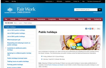 http://www.fairwork.gov.au/leave/public-holidays/pages/default.aspx