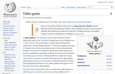 http://en.wikipedia.org/wiki/Video_game