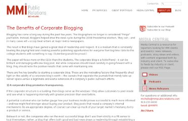 http://www.mmipublicrelations.com/white/paper/the-benefits-of-corporate-blogging/