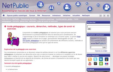 http://www.netpublic.fr/2012/04/guide-pedagogique-courants-demarches-methodes-types-de-savoir-exercices/