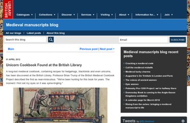 http://britishlibrary.typepad.co.uk/digitisedmanuscripts/2012/04/unicorn-cookbook-found-at-the-british-library.html