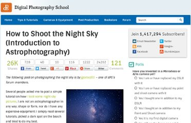 http://digital-photography-school.com/how-to-shoot-the-night-sky-introduction-to-astrophotography